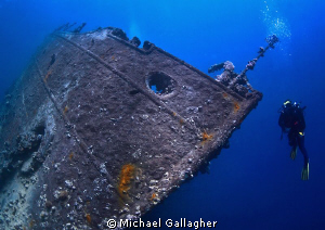 The bow of the Umbria, Sudan - what a brilliant wreck dive! by Michael Gallagher